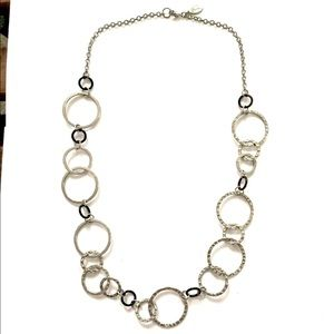 GUESS Silver circle link necklace